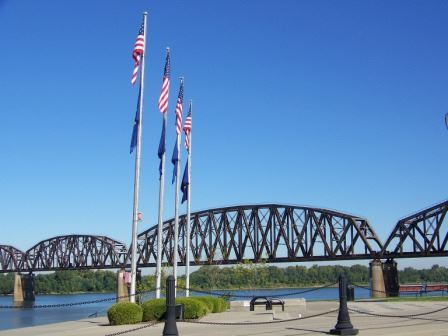 Riverfront With Blue Sky